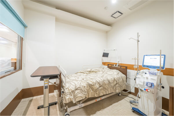 感染症発症時などにお使い頂ける個室